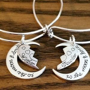 New Silver Mom & Daughter Bracelet Set Mothers Day